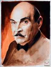 Poirot - Watercolours on Paper -